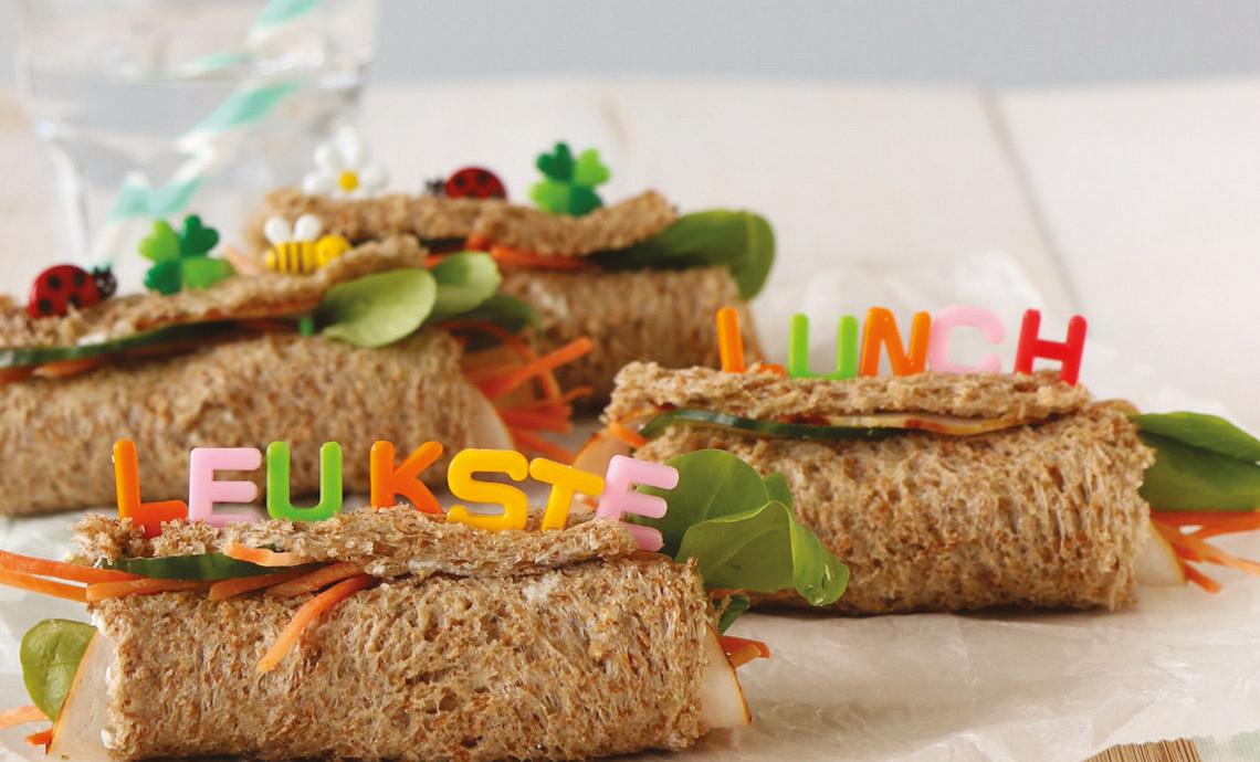 Kinderwraps van brood