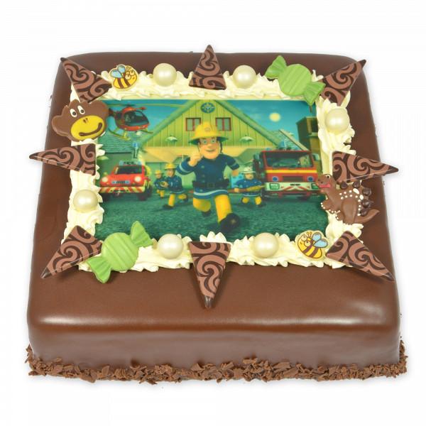 Afbeeldingtaart chocolade