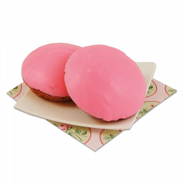 2 roze koeken