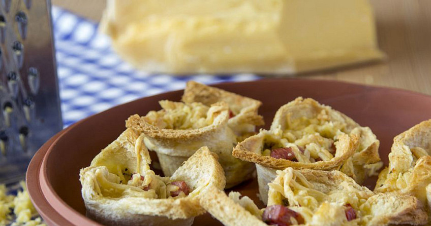 Mini quiches van brood