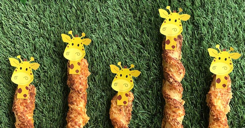 Kaasstengel giraffen