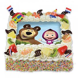 Afbeeldingstaart Masha en de beer